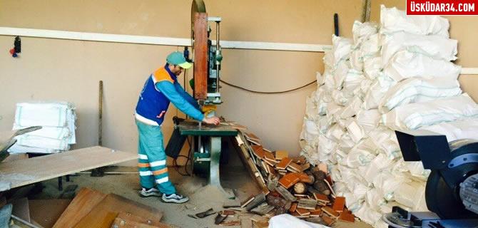 �htiya� sahibi ailelerin k��l�k odunlar� �sk�dar Belediyesi'nden