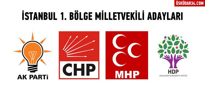 İstanbul 1. Bölgeden Milletvekili Adayları belli oldu