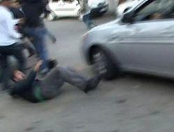 Üsküdar'da Kameramana araba çarptı!