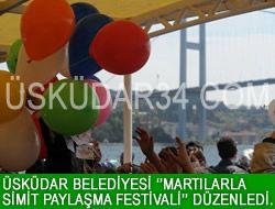 Üsküdar'da 'Martılarla Simit Paylaşma Festivali'