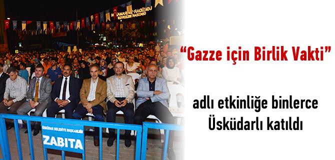 'Sahur Meclisi' Üsküdar'da Gazze için toplandı