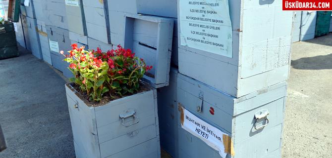 Seçim sandıkları Üsküdar'da çiçek açtı