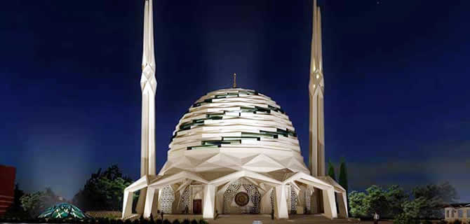T�rkiye'nin ilk �elik camisi �sk�dar'da in�a ediliyor
