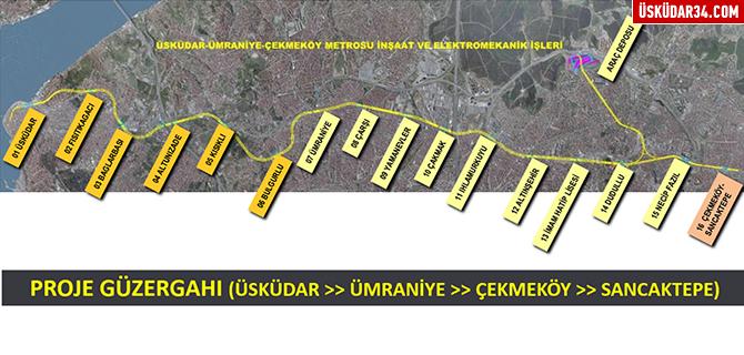 Ümraniye'de metro çalışmaları sürüyor