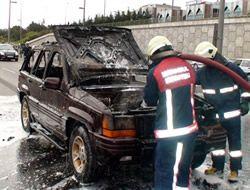 Üsküdar Altunizade'de araç yangını