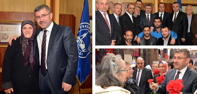 Üsküdar Belediye Başkanı Hilmi Türkmen'e ziyaretçi akını