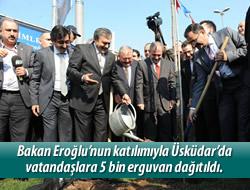 Üsküdar'a 20, İstanbul'a 100 bin Erguvan!..