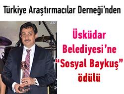 Sosyal Baykuş Ödülü Üsküdar'ın!..