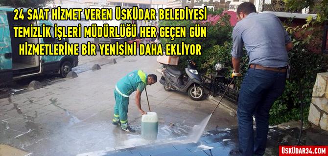 Üsküdar Belediyesi Temizlikte Hız Kesmiyor