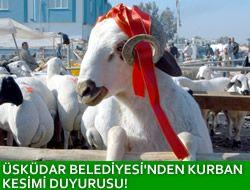 Üsküdar Belediyesi Kurban Kesimi Duyurusu