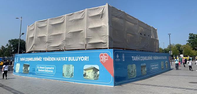Üsküdar'da bulunan 3. Ahmet Çeşmesi restore ediliyor