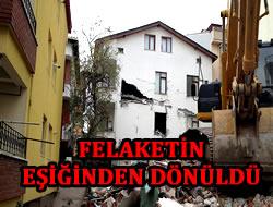 Üsküdar'daki yıkımda felaketin eşiğinden dönüldü...