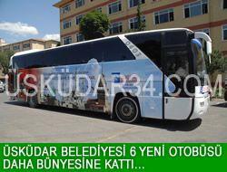 Üsküdar Belediyesi 6 yeni otobüse kavuştu.