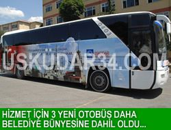 Hizmet için 3 yeni otobüs daha!