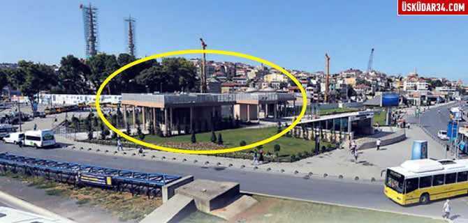 �sk�dar Marmaray �stasyonu'na estetik tra�