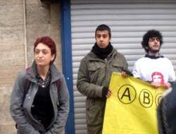 Üsküdar 'ÖSYM Bürosu' önünde eylem
