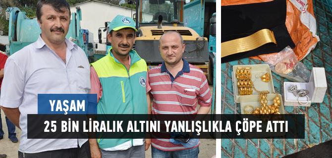 Üsküdar'da 25 bin liralık altını yanlışlıkla çöpe attı