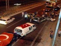 Üsküdar'da asker konvoyunda kaza
