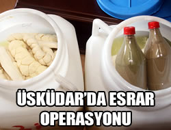 Üsküdar'da esrar operasyonu
