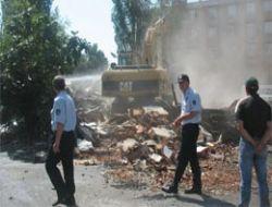 Üsküdar'da gecekondu yıkımı
