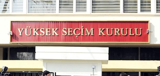YSK Genel Se�imler'e girecek partileri belirledi