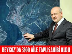 Beykoz Belediyesi 3300 aileye tapu verdi