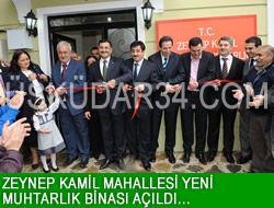 Zeynep Kamil Muhtarlığı yenilendi.