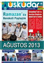 Ağustos 2013 | Üsküdar Belediyesi Aylık Haber Bülteni
