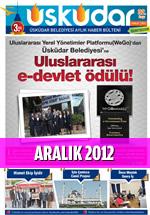 Üsküdar Belediyesi Aylık Haber Bülteni - Aralık 2012