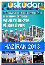 Haziran 2013 | Üsküdar Belediyesi Aylık Haber Bülteni