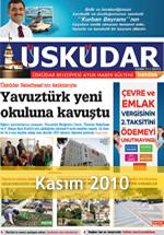 Üsküdar Belediyesi Aylık Haber Bülteni - Kasım 2010