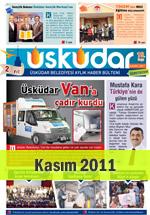 Üsküdar Belediyesi Aylık Haber Bülteni - Kasım 2011