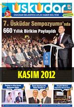 Üsküdar Belediyesi Aylık Haber Bülteni - Kasım 2012