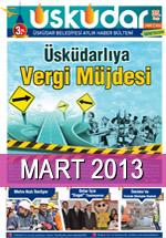 Üsküdar Belediyesi Aylık Haber Bülteni - Mart 2013
