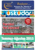 Üsküdar Belediyesi Aylık Haber Bülteni - Temmuz/Ağustos 2011
